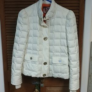 Juicy couture winter white down puffer